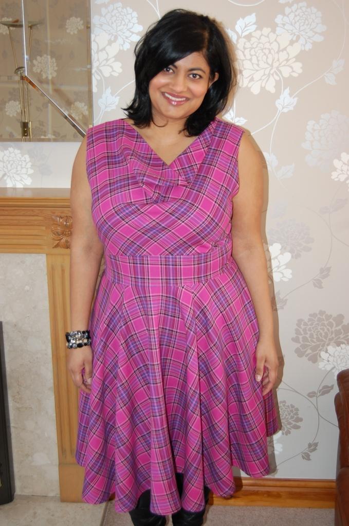 My version - Vogue 8787 cowl neck flared dress
