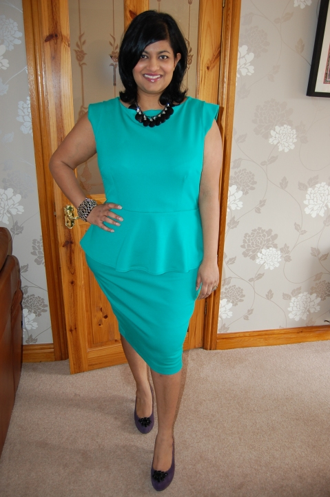 Ponte peplum dress