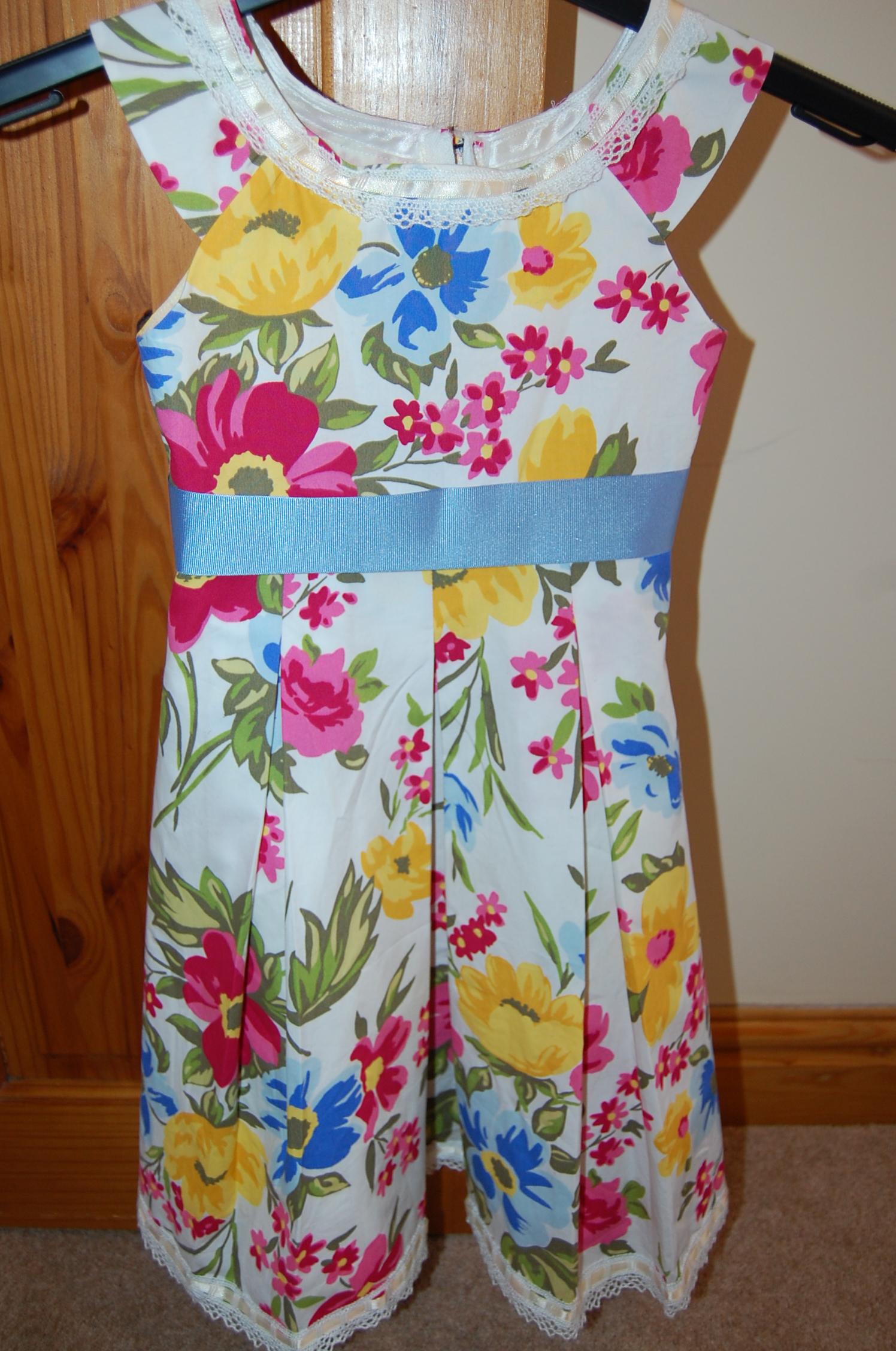 bb969723ddaf New Look 6205  kids floral cotton summer dress – sewmanju