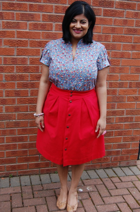 Kelly skirt with Simplicity 2365 top - pat on the back for staying with me so far!