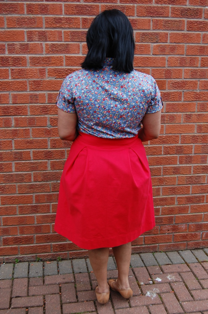 Kelly skirt with Simplicity 2365 top - rear view