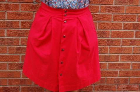 Poppy red Megan Nielsen Kelly Skirt