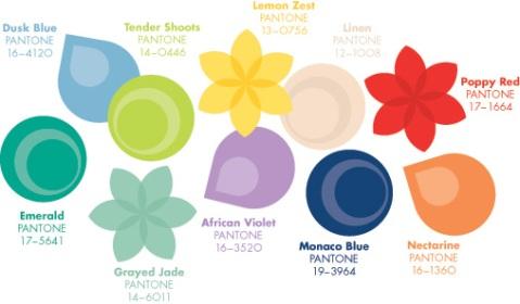 2013 Spring Pantone colours