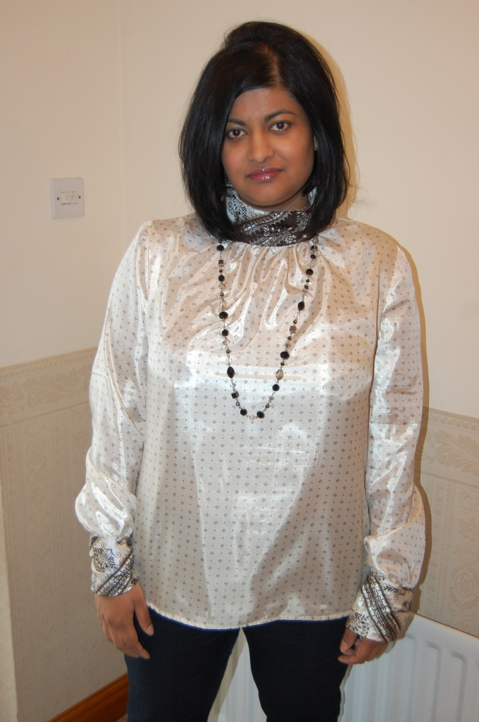 McCalls 6650 high neck blouse