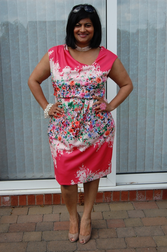 Butterick 5871 floral dress