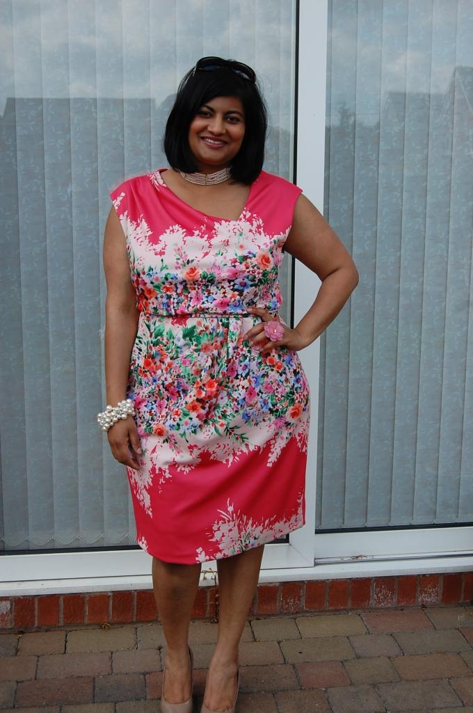 Butterick 5871 floral dress