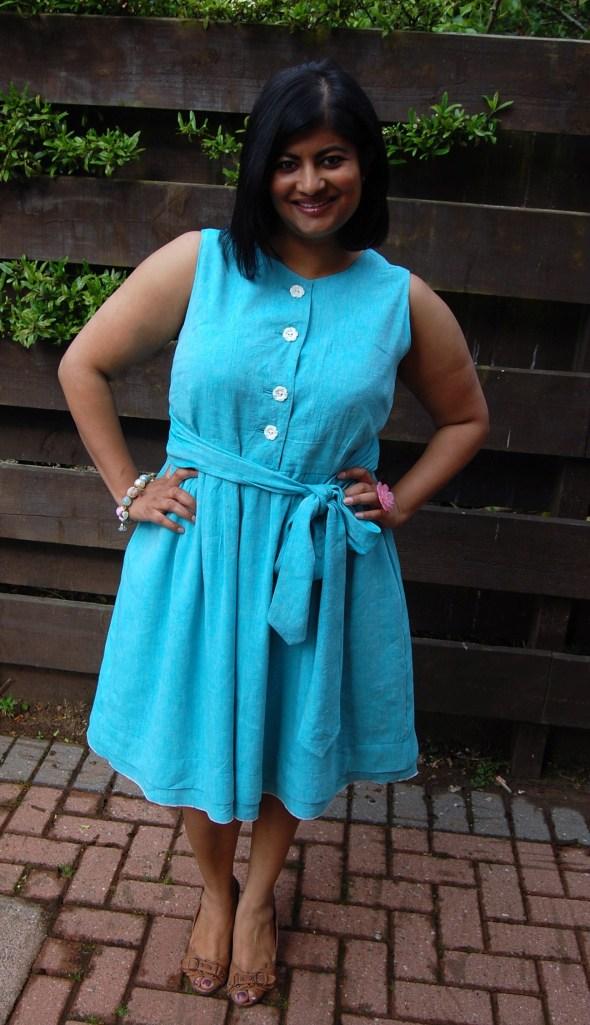 Simplicity 2215 linen mix dress