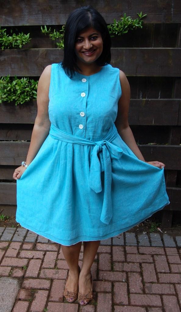 Simplicity 2215: linen mix dress