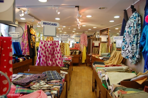 Interior shot of the shop where I bought my cottons.