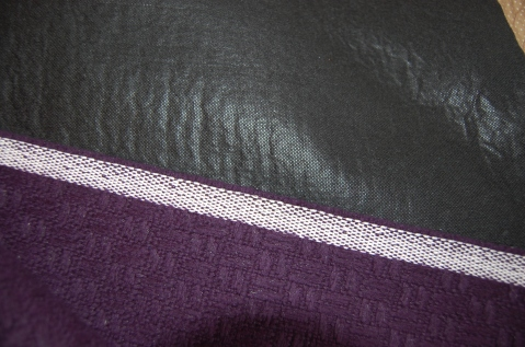 Back of wool fabric