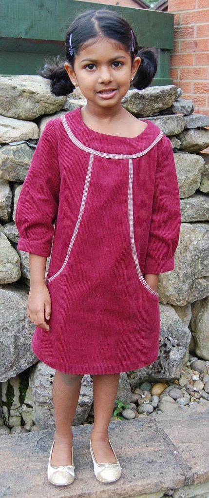 Simplicity 1787 little girl's corduroy dress