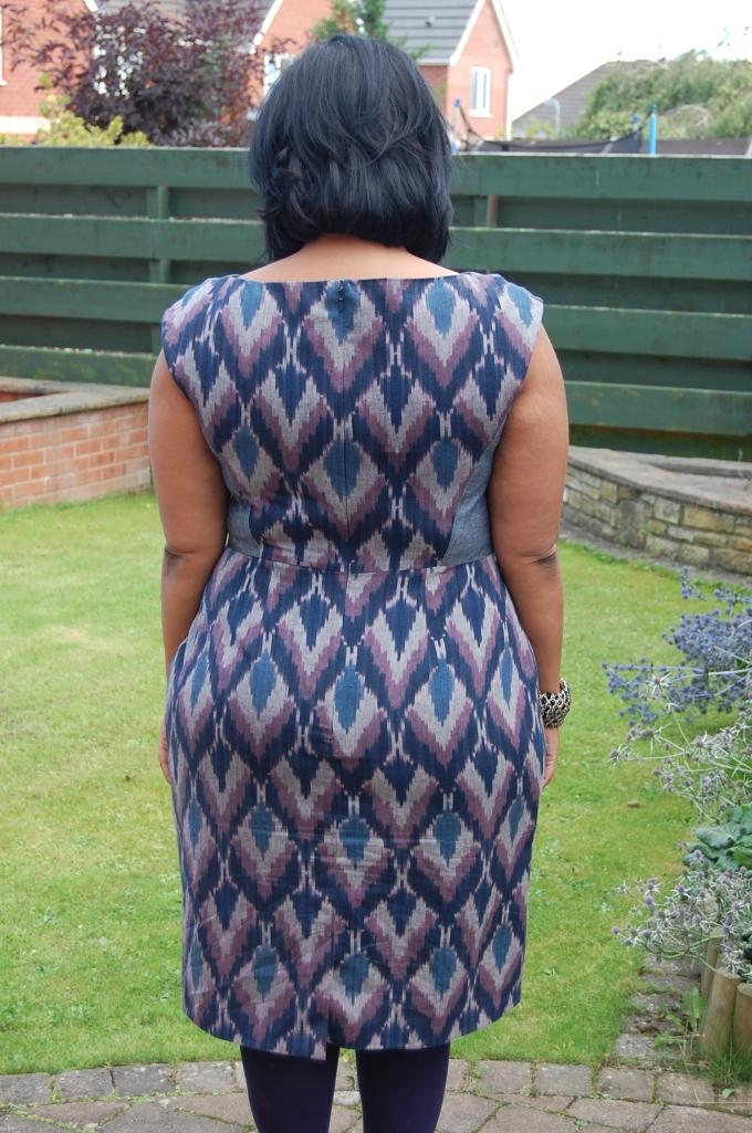 Burda Style 7494 Ikat cotton dress