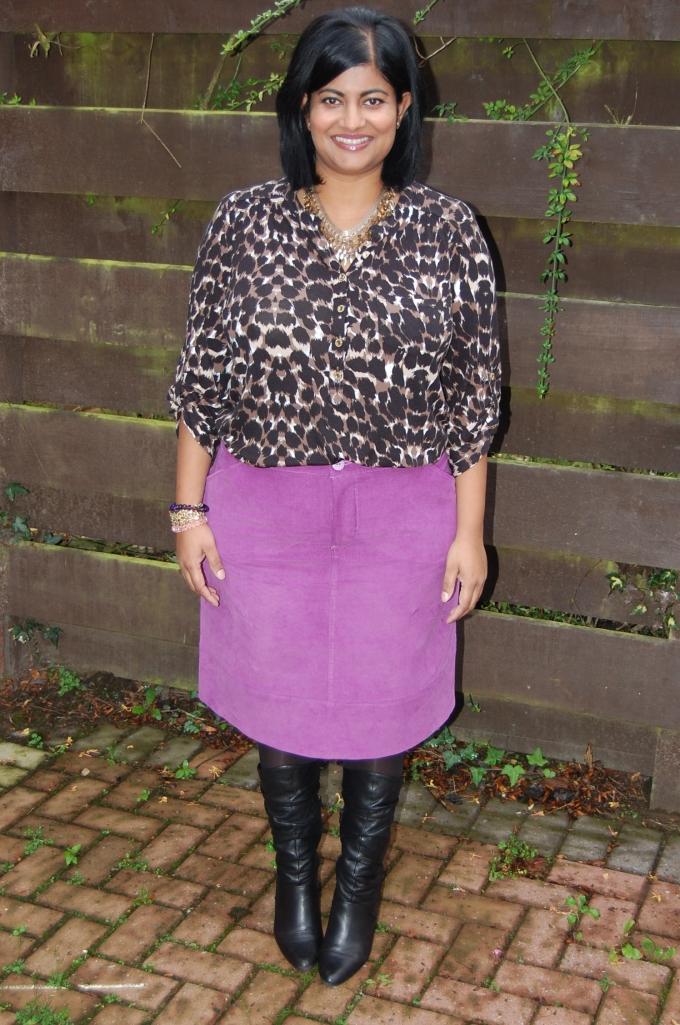 Grainline Moss (not so) Mini Skirt in cord.