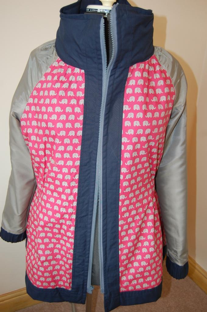 Sewaholic Minoru jacket elephant lining
