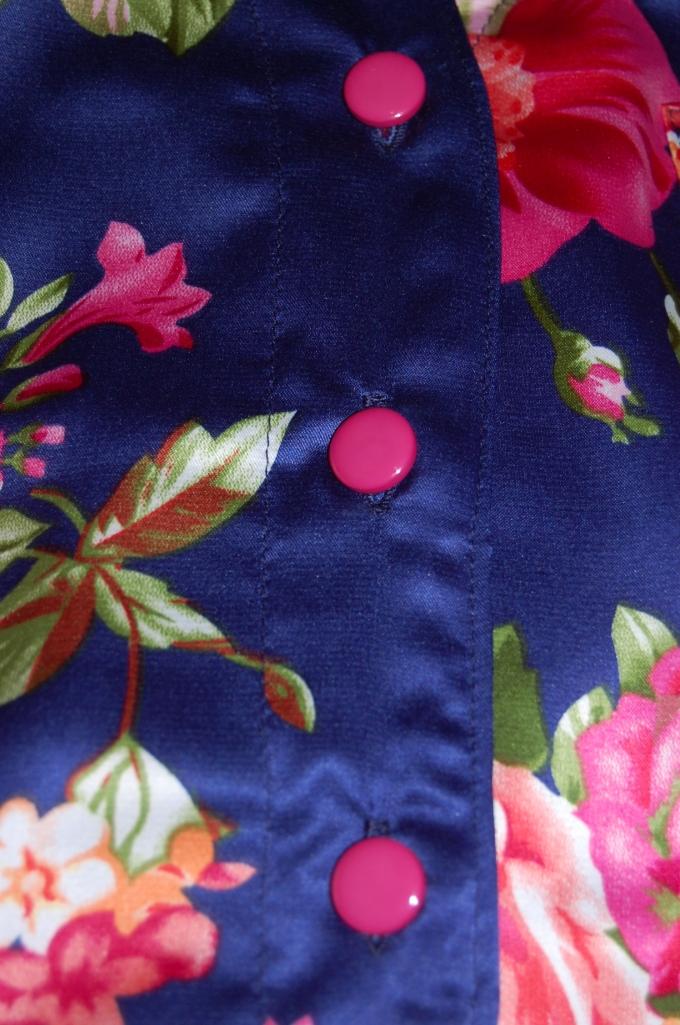 Simplicity 2823 floral satin pyjamas