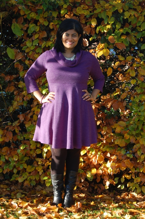 Butterick 5870 cowl neck version in wool jersey
