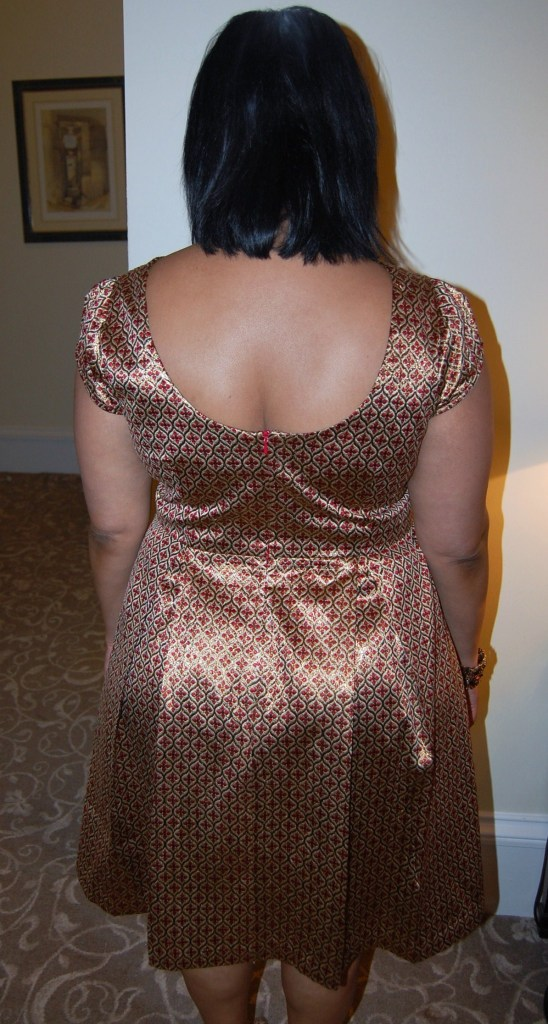 Simplicity 1803 brocade cut out dress