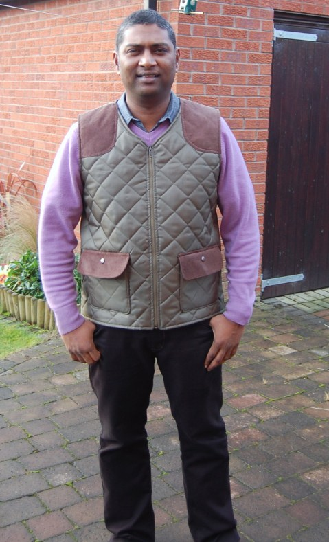 Simplicity 2479 DIY mens quilted bodywarmer vest