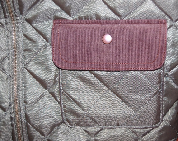 Simplicity 2479 pocket/ snap/ zipper detail
