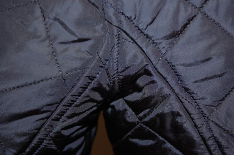 Butterick 5683 close up of flat fell seam detail