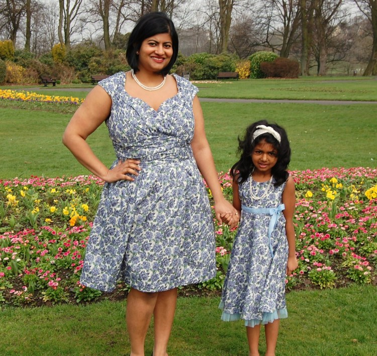 Mother Daughter Mothers Day Dresses made using Liberty Lawn fabric