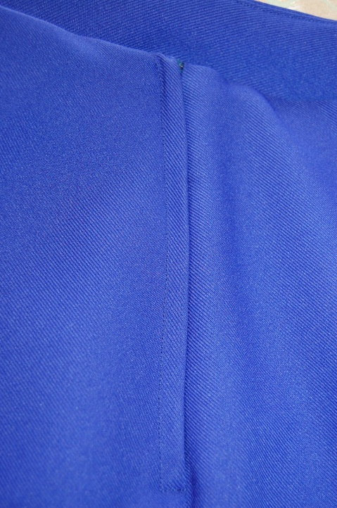 Simplicity 1591: cobalt blue fluted hem skirt - lapped zip