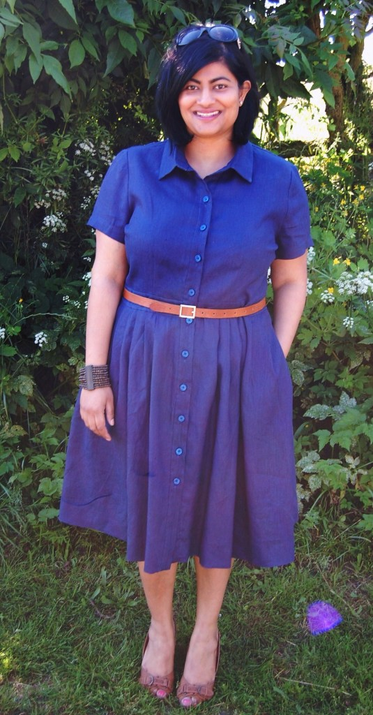 McCalls 6696: DIY navy linen shirt dress