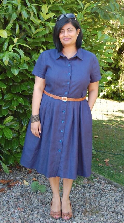 McCalls 6696: DIY navy linen shirt dress