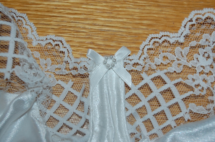 Close up of finished bra
