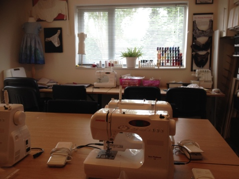 Interior of Birmingham School of Sewing