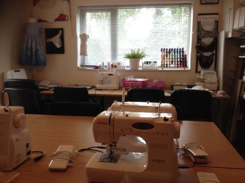 Interior of Birmingham School of Sewing