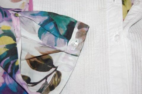 Burdastyle Plus Size Placket Blouse 01/2010#133: cuff detail.