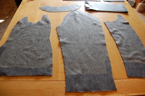 Quart Coat by Pauline Alice: interfacing hems/ armholes etc of pattern pieces.