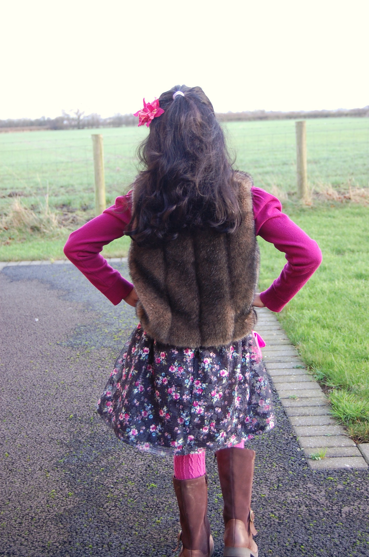 little girls fur vest sewmanju