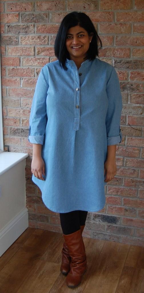 McCalls 6885: denim tunic dress
