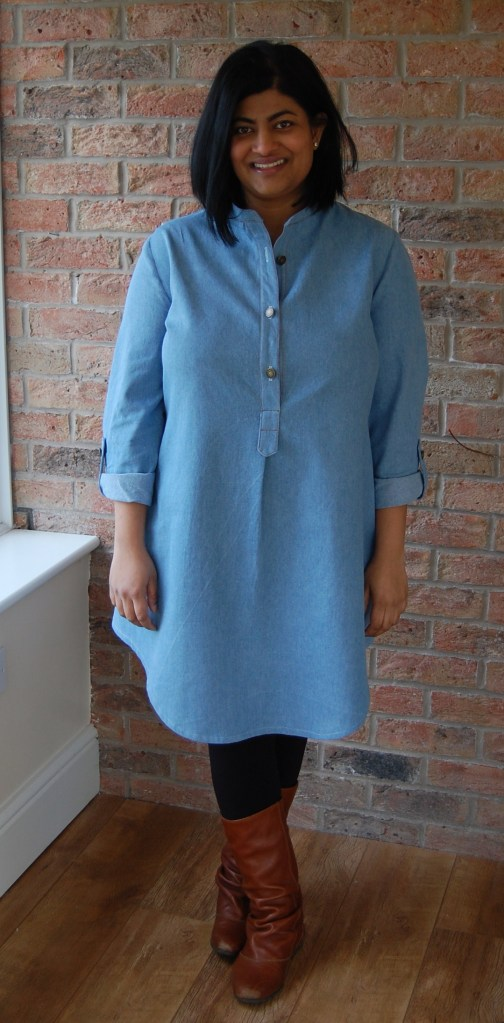 McCalls 6885: denim tunic dress