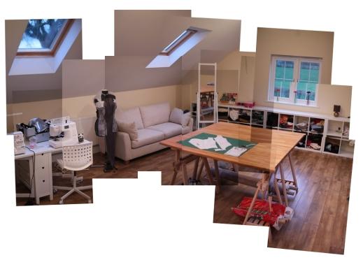Ikea sewing room furniture sewmanju for Sewing room furniture