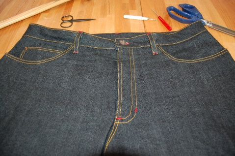 Closet Case Ginger Skinny Jeans Fly Topstitching