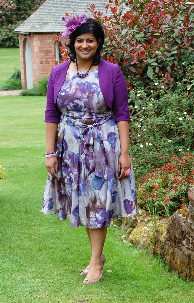 Me circa 3.5 years ago, wearing a silk fit and flare dress purchased online from John Lewis.