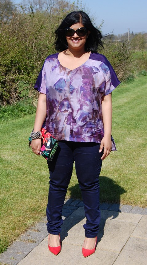 True Bias Sutton Blouse made from upcycled silk