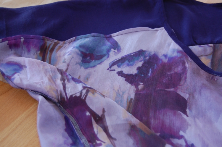 True Bias Sutton Blouse made from upcycled silk - inside finish