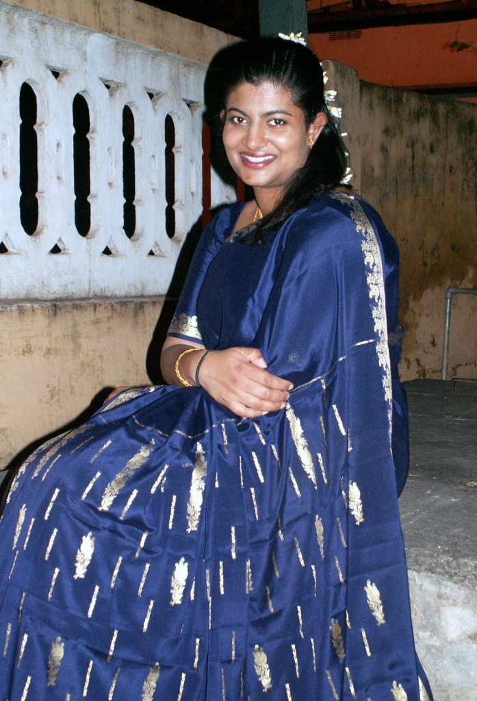 Me about 10 years ago wearing a silk saree.