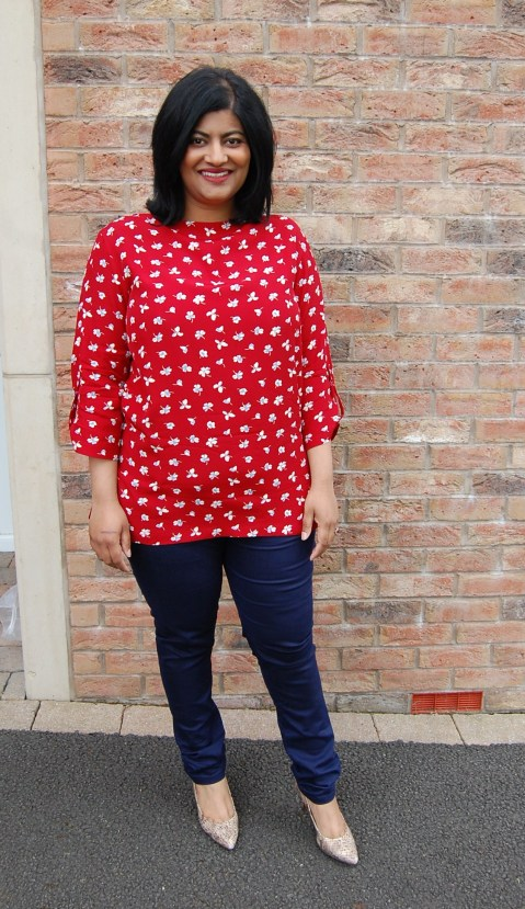 Simplicity 1364 - vintage button back boat neck top. Entered in Simplicity's Star Sewist Contest 2015.