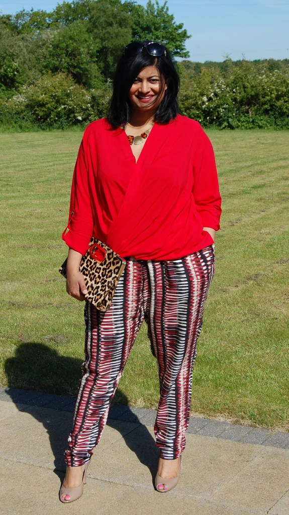 McCalls 6291, 6991 and Butterick 5926: printed pants, crossover wrap top and ponte blazer