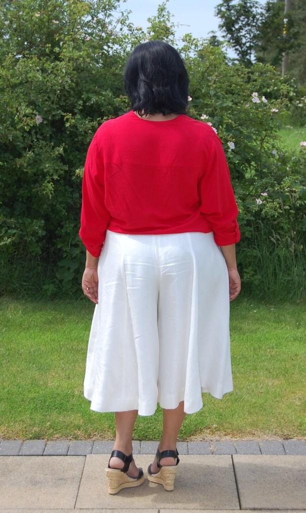 Butterick 6179: DIY White Linen Twill Culottes