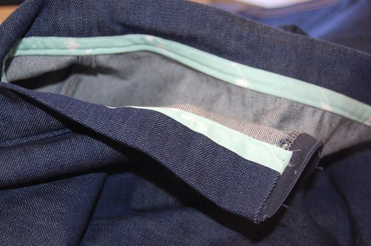 Butterick 6182 inside waistband seam