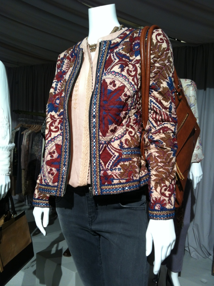 Quilted jacket inspiration - the Emerline print quilted jacket by Monsoon. [Source]