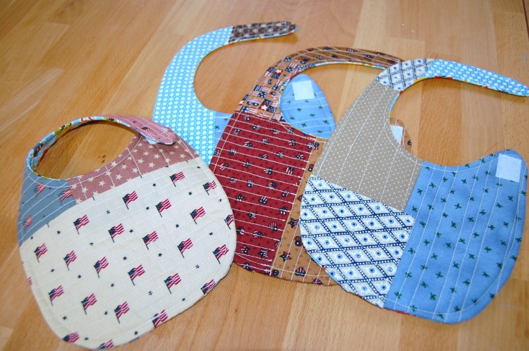 Quilt as you go baby bibs