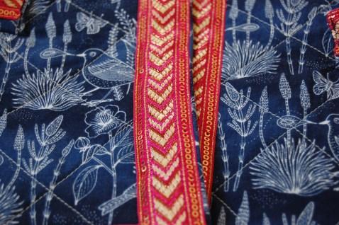 Vogue 7975 quilted cotton version - trim closeup