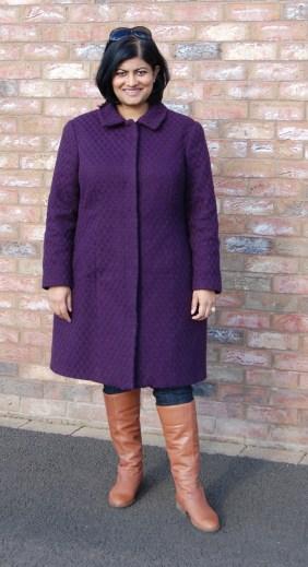 McCalls 7058 Basket Weave Interlined Wool Winter Coat